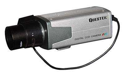 "QUESTEK -- QTC-102i: Camera thân 1/4"" Super Exwave SONY CCD, 450 TVL"