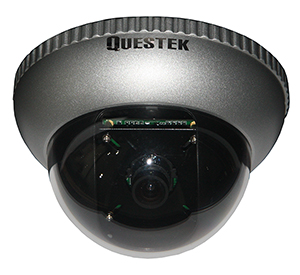 QTC-301D --QUESTEK-- Camera Dome 1/3 Sony CCD, 520 TV Lines
